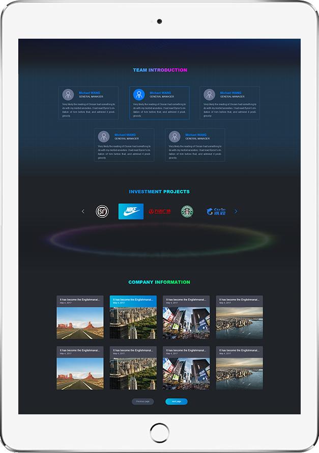 北京网站设计案例-飞未来资本